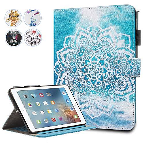 (iPad Mini Case,Mini 2/3 Case Monstek(TM) Leather Smart Kickstand Case Cover Colorful Flip Wallet Protective Case for Apple iPad Mini 1 2 3 - 01 Mandala)