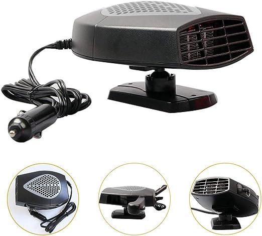 Portable 12V Car Vehicle Ceramic Heater Heating Cooling Fan Defroster Demister