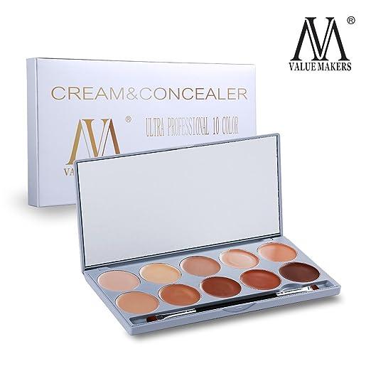4 opinioni per VALUE MAKERS 10 Crema Contorno tavolozza dei colori Concealer crema cosmetica