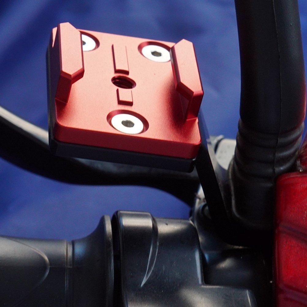 Rouge LEDMOMO Moto V/élo Guidon Mont Titulaire R/étroviseur En Alliage Daluminium Stent Fixation Fixation Titulaire pour Gopro 385