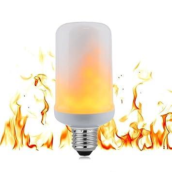 Amazon.com : LED Flame Light Bulb Flicker Fire Effect E26 E27 Base ...