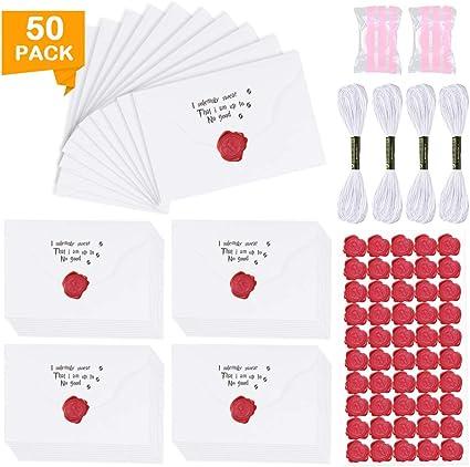 K KUMEED 50 sobres pequeños para fiesta temática de Harry Potter ...