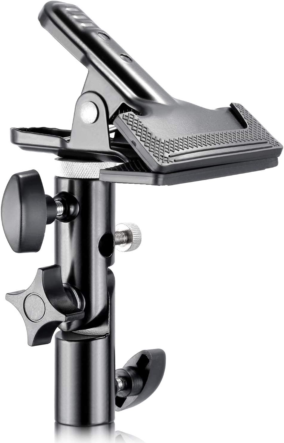 """Neewer Photo Studio Heavy Duty Metal Clamp Holder with 5/8"""" Light Stand Attachment for Reflector"""