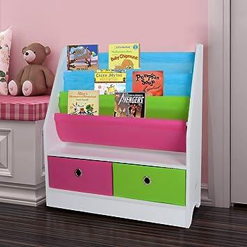TopHomer Bücherregal für Kinder Büchergestell im ...