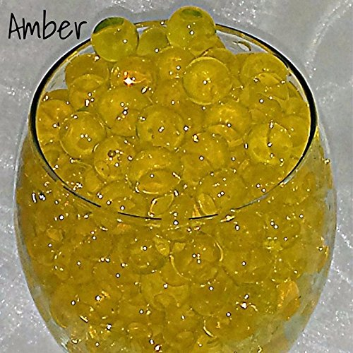 Mega Shop   Fish Bowl Beads 20 Packs   Set Filler Vase For Diy Slime Acrylic Plastic Clear Round   Aqua Decorative Pot Glass Jelly Balls Bio Gel  Amber