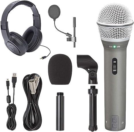 Samson q2u grabación y Podcasting Pack con USB/XLR Micrófono ...