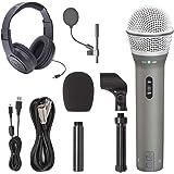 Samson Q2U Recording & Podcasting Pack + Samson SR350 Over-Ear Stereo Headphones + Pop Filter & Foam Windscreen