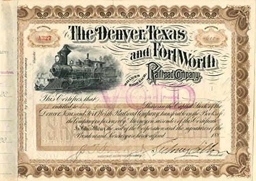 Sidney Dillon - Denver, Texas and Fort Worth Railroad - Fort Worth Railroad
