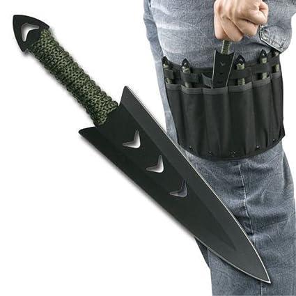 Amazon.com: 6 pcs. Ninja Naruto Mil-Tec Combat caza Kunai ...