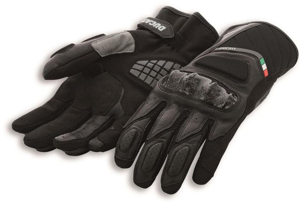 Ducati Sport C3 Gauntlent Style Glove by Spidi Black Large