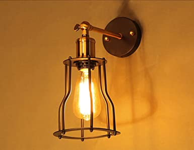 Industriale lampade da parete edison retro ruota e wall light