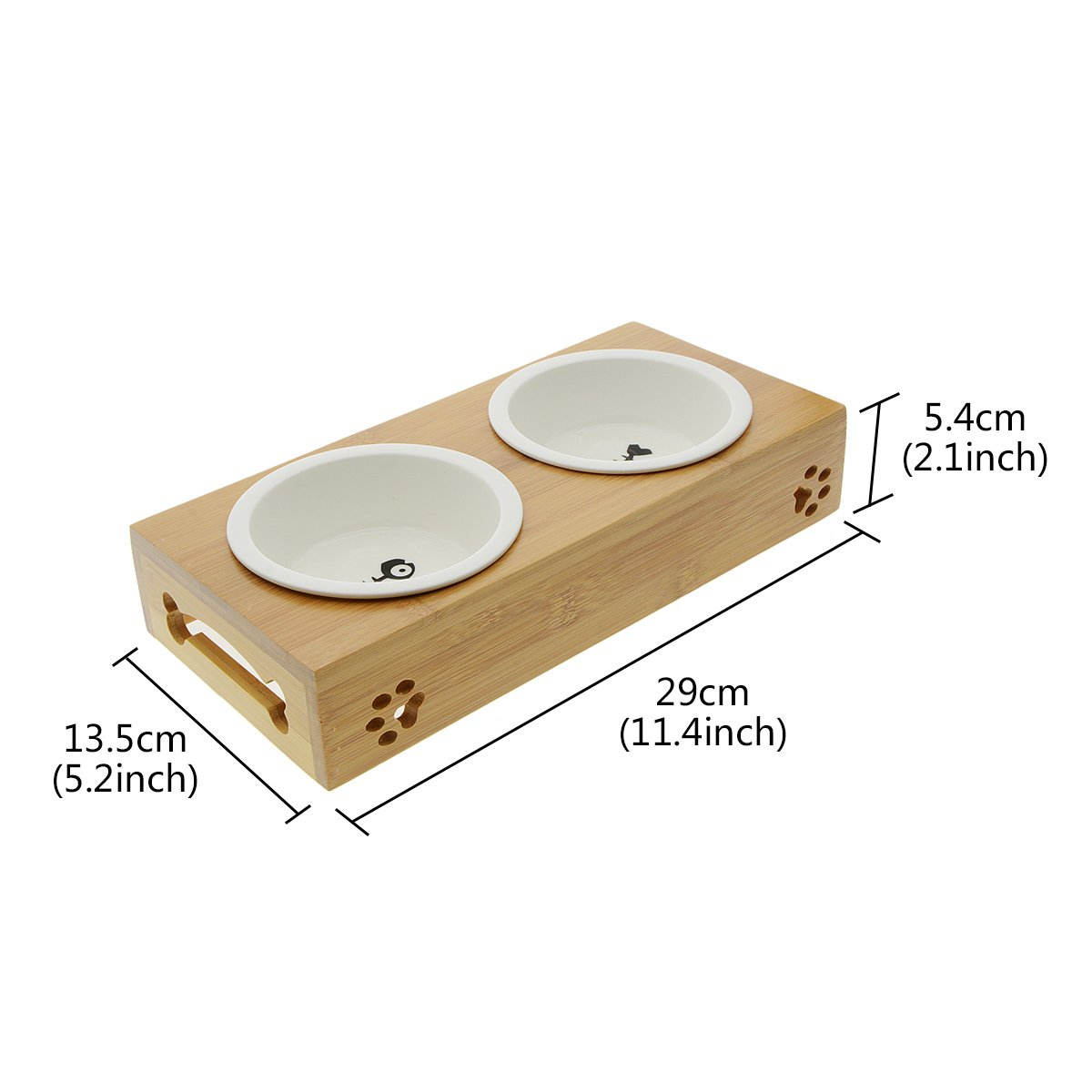 Saim Small Dogs and Cats Bowls Elevated Pet Feeder by Saim (Image #2)