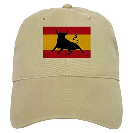 CafePress - Spanish flag with bull Gorra beisbol - Baseball Cap with Adjustable Closure, Unique