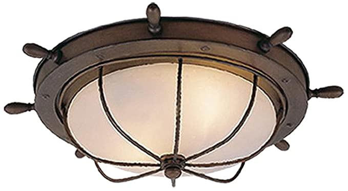 Amazon.com: Vaxcel iluminación of25515 Orleans 2 Light Flush ...
