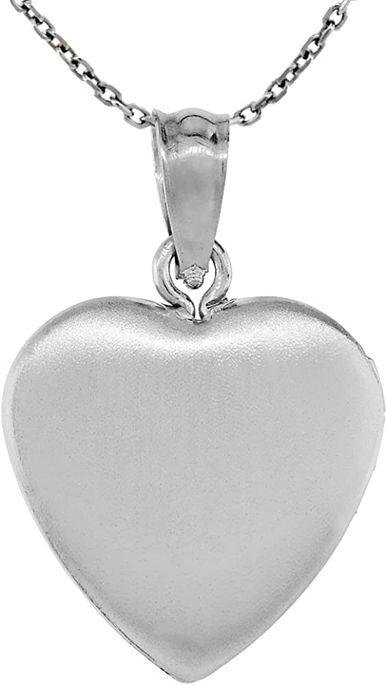 Sterling Silver Womens 1mm Box Chain 3D Left Right Eye Contact Lens Case Pendant Necklace