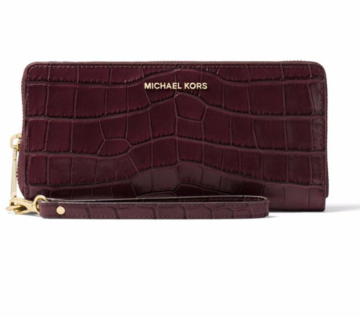 MICHAEL Michael Kors Crocodile Embossed Travel Continental Wallet