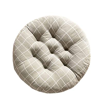 Leono Freedi Round Chair Pad - Seat Cushion Super Breathable Stool Cushions Non-Slip Chair Pad for Patio Office Kitchen Garden (18 inches in Diameter): Home & Kitchen