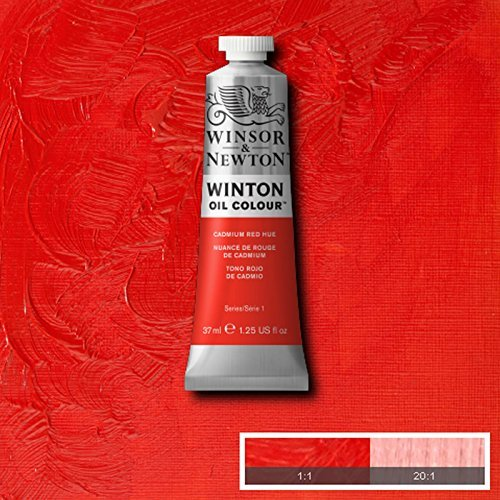 Winsor & Newton Winton Oil Paint Tube Artist Art 37ml & 200ml ALL COLOURS (Cadmium Red Hue, - Winton 37ml Oil Colour