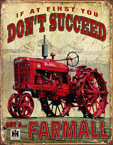 Farmall - Succeed Tin Sign 13 x 16in from Tin Signs