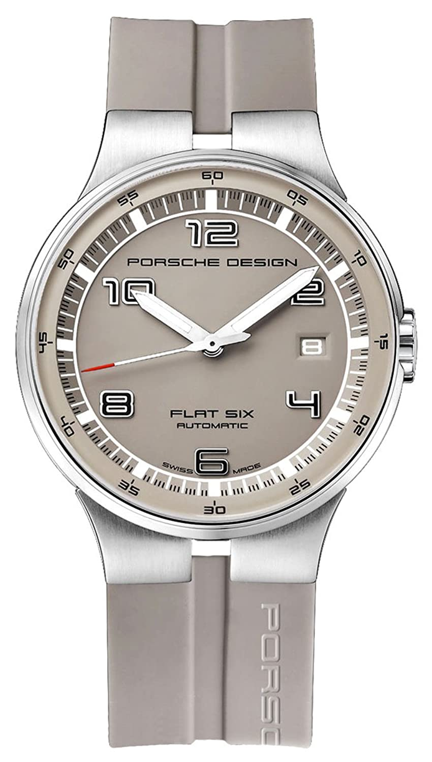 Porsche Design Flat Six Automatic Stainless Steel Mens Grey Watch Calendar 6351.41.54.1263
