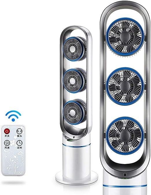 Ventilador de aire acondicionado Ali- Torre de la casa Ventilador de Piso Ventilador con sacudiendo la Cabeza Ventilador de Escritorio con Control Remoto Sincronización de Silencio: Amazon.es: Hogar