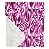 Carousel Designs Fuchsia Woodgrain Crib Blanket