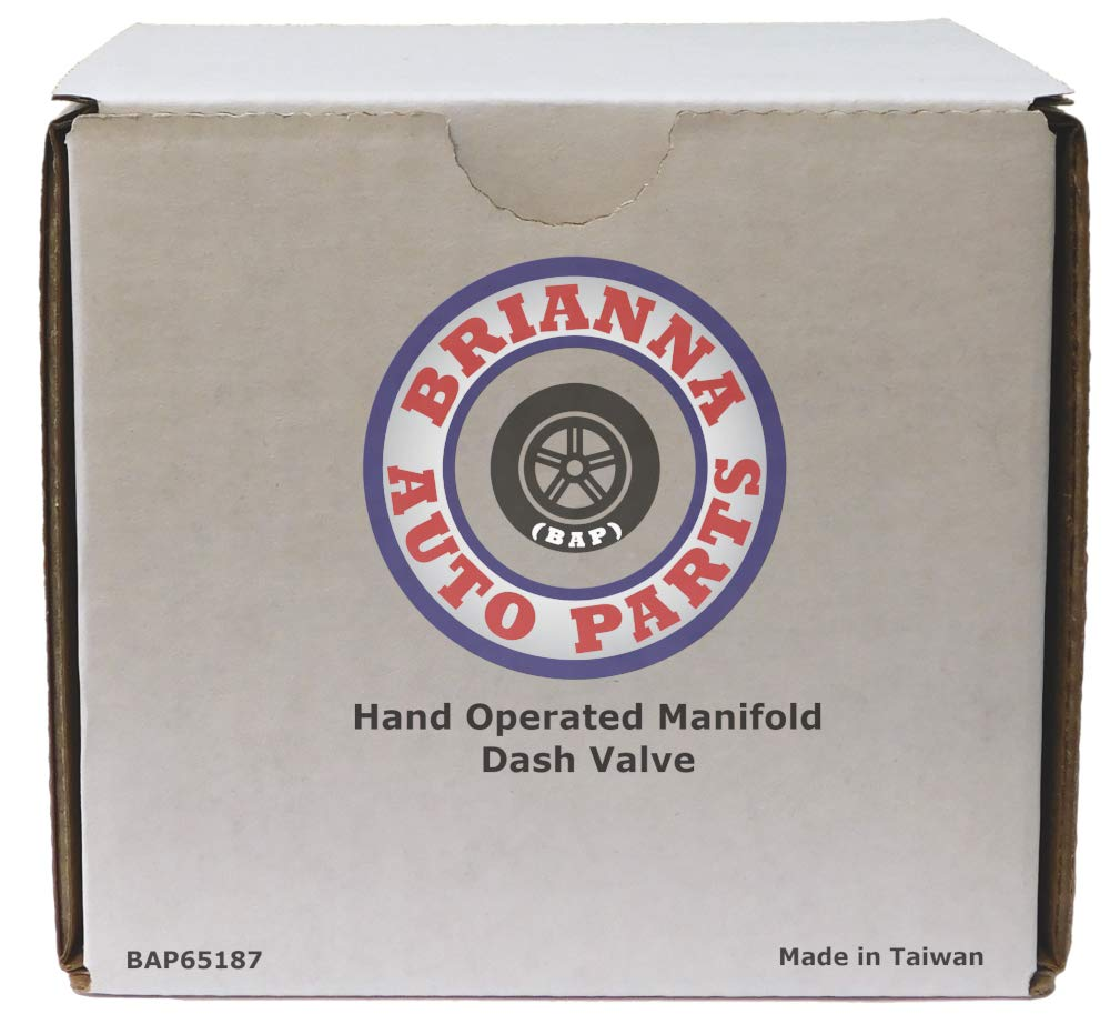 Hand Operated Manifold Dash Brake Valve 1/4'' Trailer Delivery for Heavy Duty Big Rigs by Brianna Auto Parts (BAP) (Image #5)