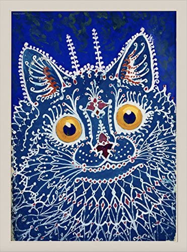 steelplant Louis Wain Psychedelic cat Tapestry