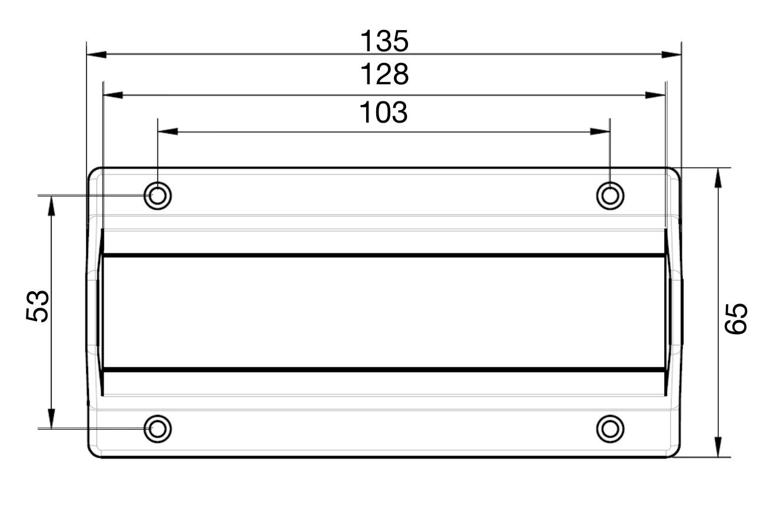 Kunststoff schwarz Gedotec Kabelklemme Kabeldurchlass Kabeldurchf/ührung CATCH UP lang Kabelf/ührung zum Schrauben B/ürotische uvm Kabelhalter f/ür Schreibtische | 2 St/ück