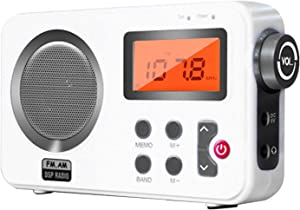 UXELY Radio - Shower Radio Speaker, AM/FM Radio with LCD Display, Portable Stereo Radio with Earphone Port for Home, Beach, Hot Tub, Bathroom