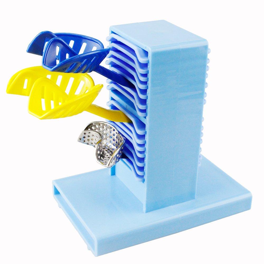 Melleco 1 pc New Dental Lab Impression Tray Plaster Holder Stand Case (Blue)