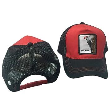 chenpaif Unisex Animal Bordado Parche Algodón Malla Gorra de béisbol Camionero Sombrero Snapback Nuevo - 11 Viernes Negro: Amazon.es: Deportes y aire libre