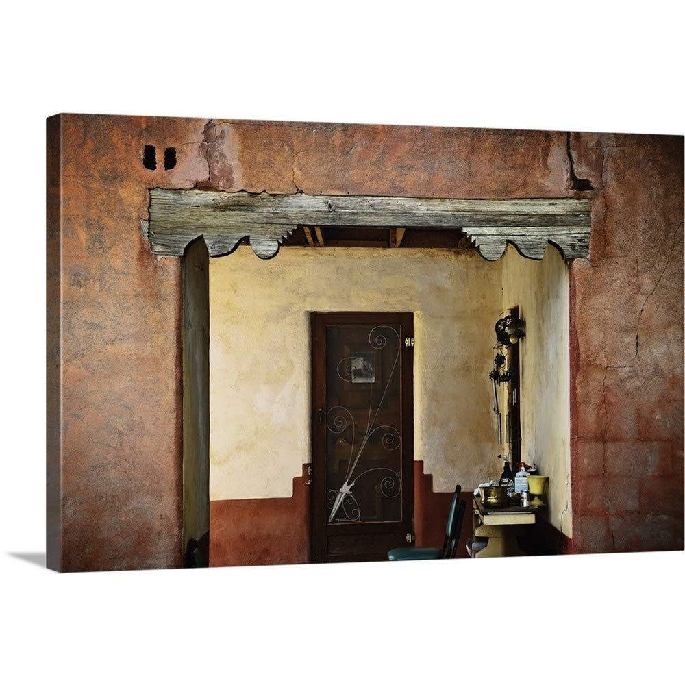 5a5ec5f930c77 Amazon.com: Ray Laskowitz Premium Thick-Wrap Canvas Wall Art Print Entitled  Old Doorway and Courtyard, New Mexico 18