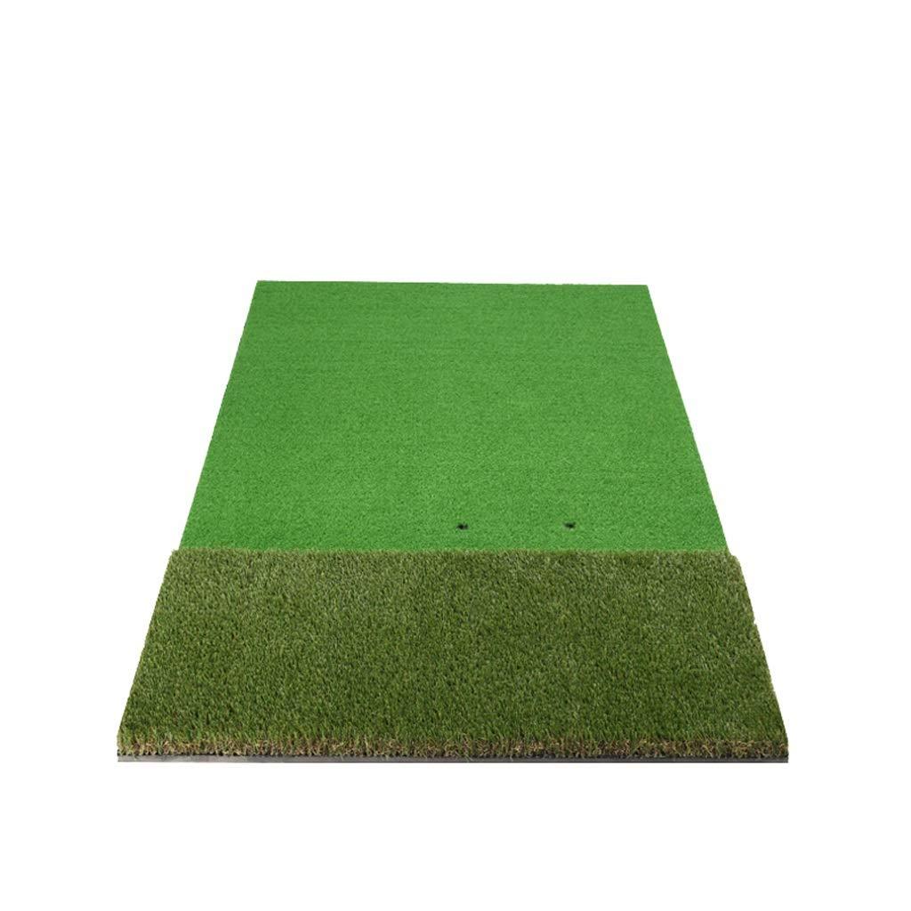 QX Components IAIZIドライビング&チッピング練習ゴルフヒッティングマット、グリーン、100 * 150 cm B07L7MBLV9