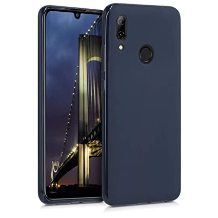 kwmobile TPU Silicone Case for Huawei P Smart (2019) - Soft Flexible Shock Absorbent Protective Phone Cover - Dark Blue Matte