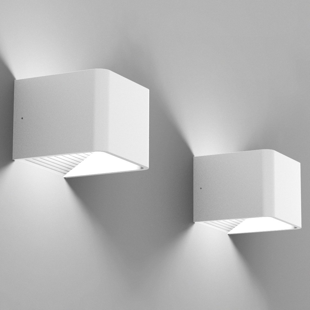 UL Listed Cool White 6000K Spacecraft LED Wall Sconce Light LSKN100AW-UL Black Modern Minimalist Dimmable 5 Year Warranty