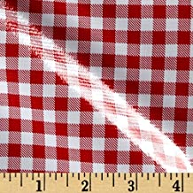 Oilcloth Gingham Red Fabric By The Yard