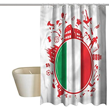 Shower Curtains That Open In The Middle.Amazon Com Denruny Shower Curtains That Open In The Middle