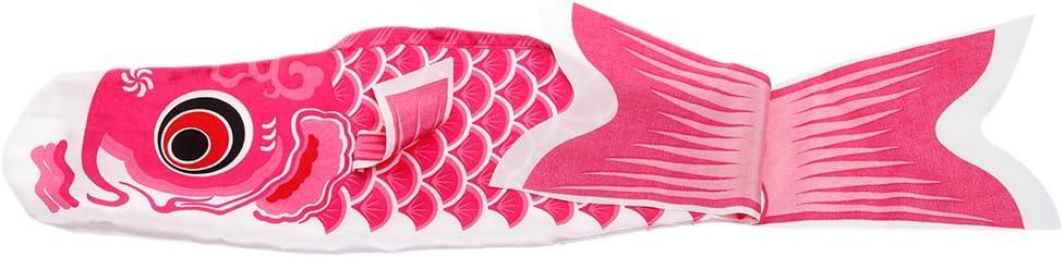 LLLucky 70 cm Koinobori Japonais Carpe Windsock /À L/Échelle Mod/èle Poisson Drapeau Cerf-Volant Carpe Tente Marqueur Rose