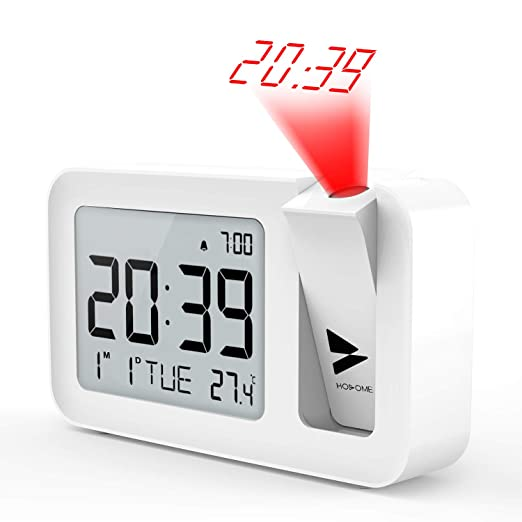 Hosome Reloj Despertador Digital Despertador Proyector con ...