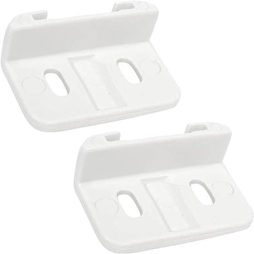 Pack of 2 SPARES2GO Sliding Hinge Door Guide Slider Brackets for Howdens Lamona Fridge Freezer