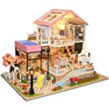 Spilay Dollhouse Miniature with Furniture,DIY
