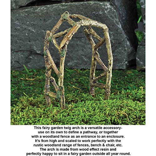 Resincraft Woodland Twig Arch Ornaments Indoor Outdoor Miniature Fairy Garden Accessories Ideas Kits Supplies ()