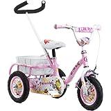 Tauki 10 Inch Kids Tricycle with Adjustable Push Bar, Kid's Trike