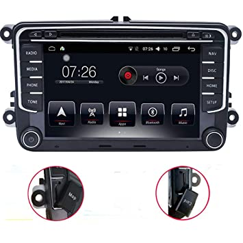 L-Way Android 7.1 Reproductor Multimedia para Coche 2 DIN DVD para VW/Volkswagen