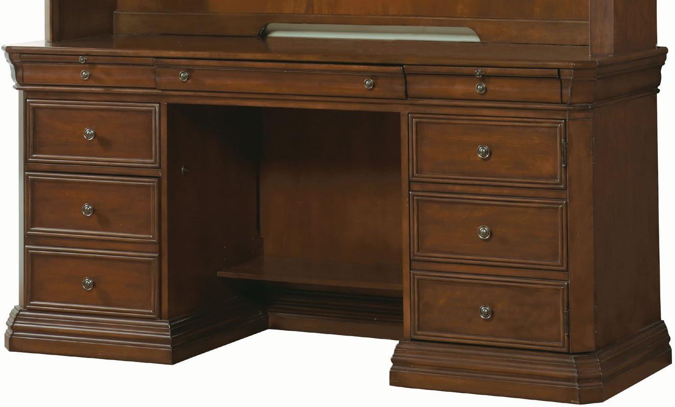 Hooker Furniture Cherry Creek Computer Credenza Desk in Brown