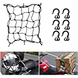 """BUNKER INDUST 16"""" x 16"""" Heavy Duty Bungee Cord Cargo Net Stretches to 30"""" x 30""""-Latex Truck Bed Mesh,Luggage Tie-Down Net wit"""