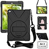 ZenRich iPad Air 2 case (2014 Release), zenrich Heavy Duty Carrying Protective 9.7 inch Air 2 Case with 360 Degree…