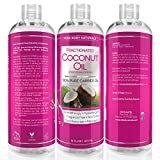 Pure Body Naturals Premium Fractionated Fine Coconut Oil for Skin or Hair, 16 Fl. Oz.