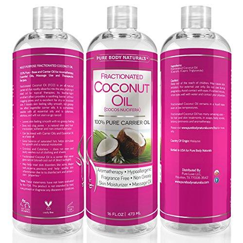 photo Wallpaper of Pure Body Naturals-Premium Fractionated Coconut Oil 16 Oz-